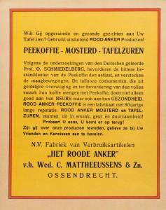 Peekoffie, mosterd, tafelzuur Mattheeussens-Wido